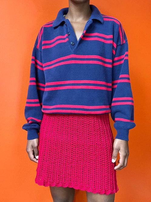 Red Crochet Skirt