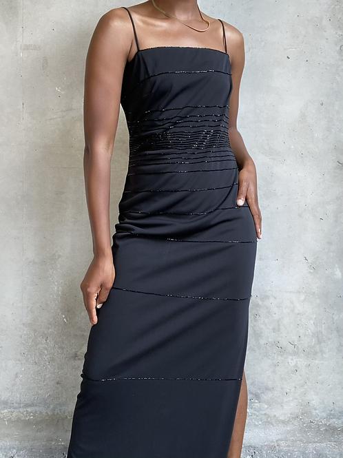 90s Black Maxi Dress