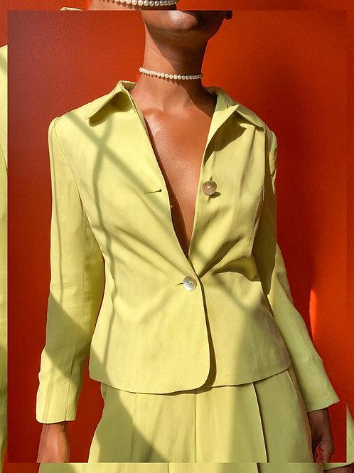 Pastel Lime Silk Set