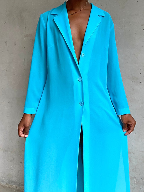 Turquoise Ankle Length Duster