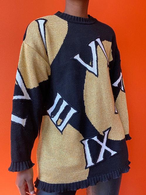 Roman Numeral Sweater