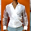 Thumbnail: White Sheer Wrap Blouse