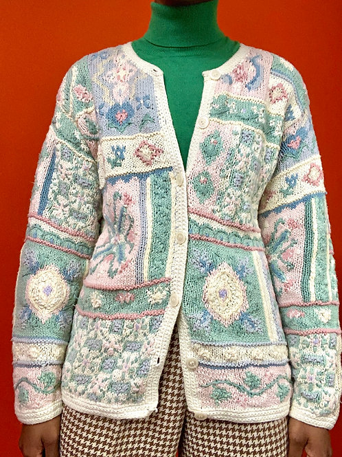Hand Knitted Pastel Cardigan