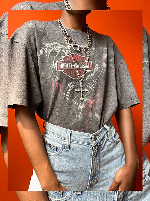 Grey Snake Harley Shirt