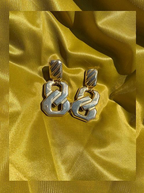 S- Shape DoorKnocker Earrings