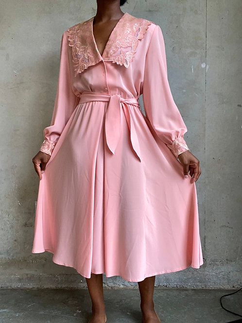 Pink Lace Trimmed Dress