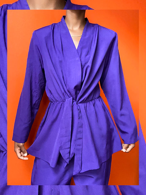 Purple Front Tie Set