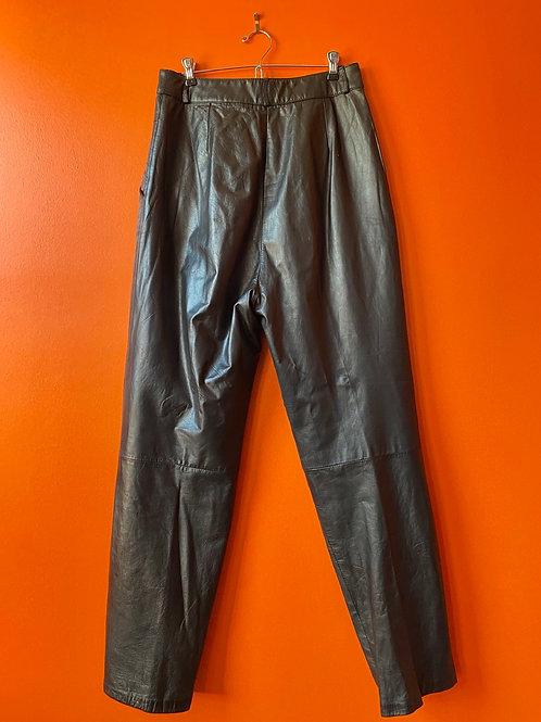 High Waisted Leather Pants