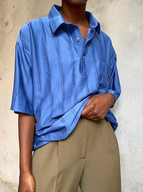 Short Sleeved Blue Polo