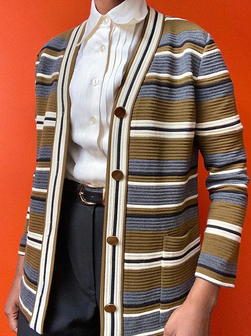 Dacron Poly Multicolored Cardigan