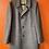 Thumbnail: Brown Herringbone Wool Coat