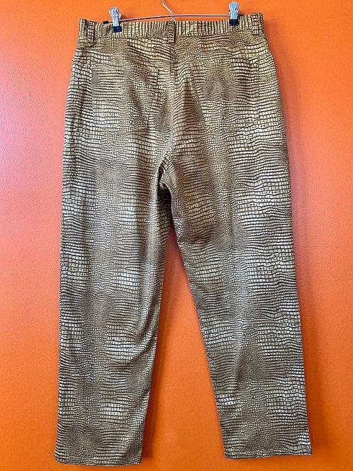 Snakeskin Print Pants