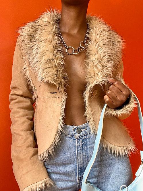 Tan Faux Fur Jacket