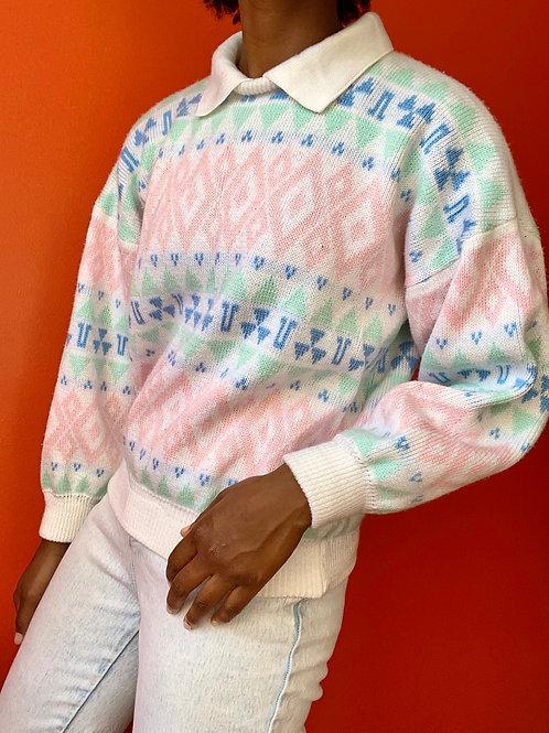 90's Geo Print Sweater