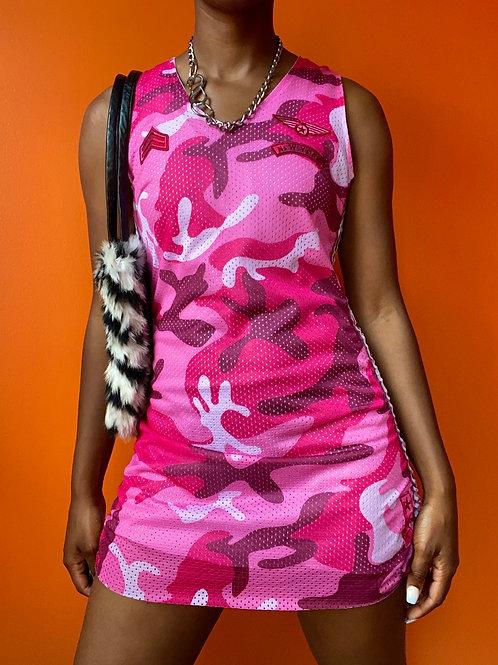 Reworked Pink Camo Jersey Dress