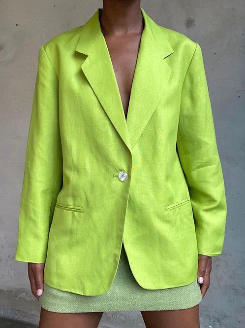 Lime Green Linen Blazer