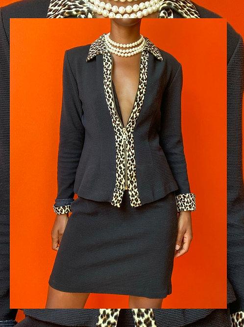 Cheetah Lined Skirt Set