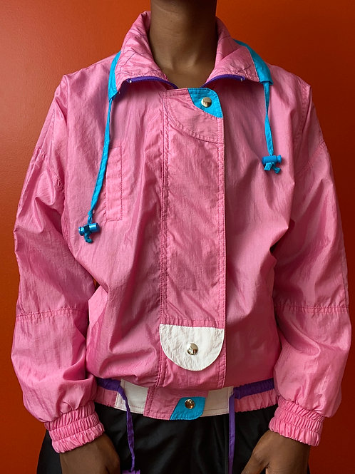 80/90's Pink Nylon Windbreaker