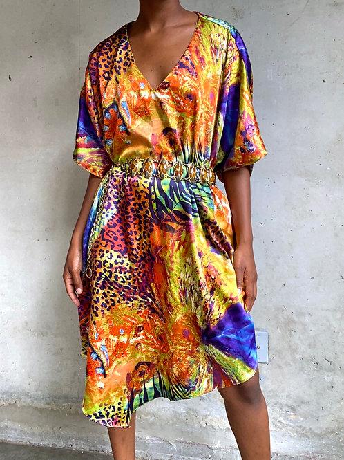 Colorful Animal Print Mid Length Muumuu