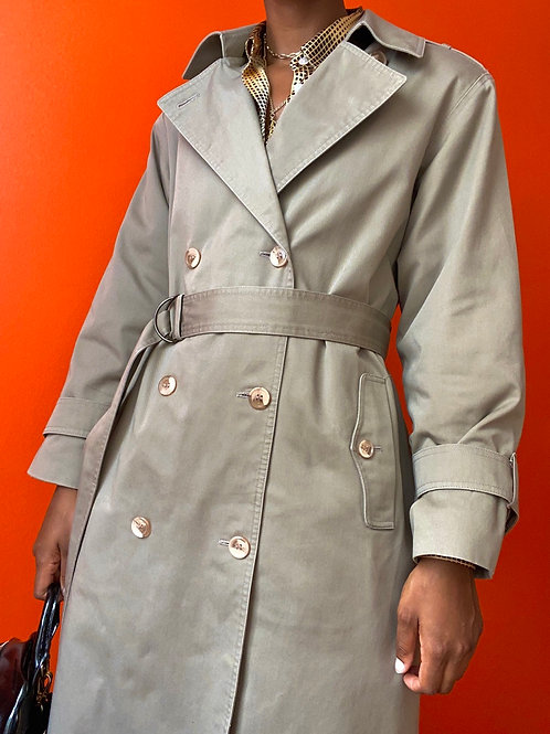 Greige Belted Trench Coat
