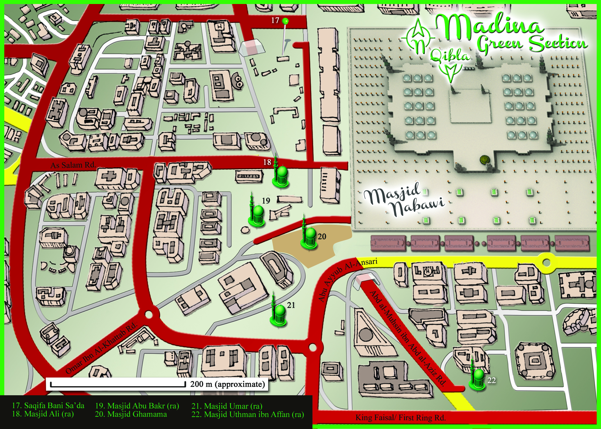 Medina Map: Green Section Detail