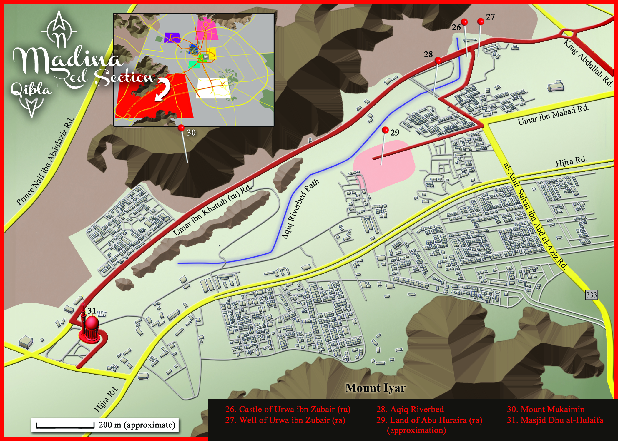 Medina Map: Red Section Detail