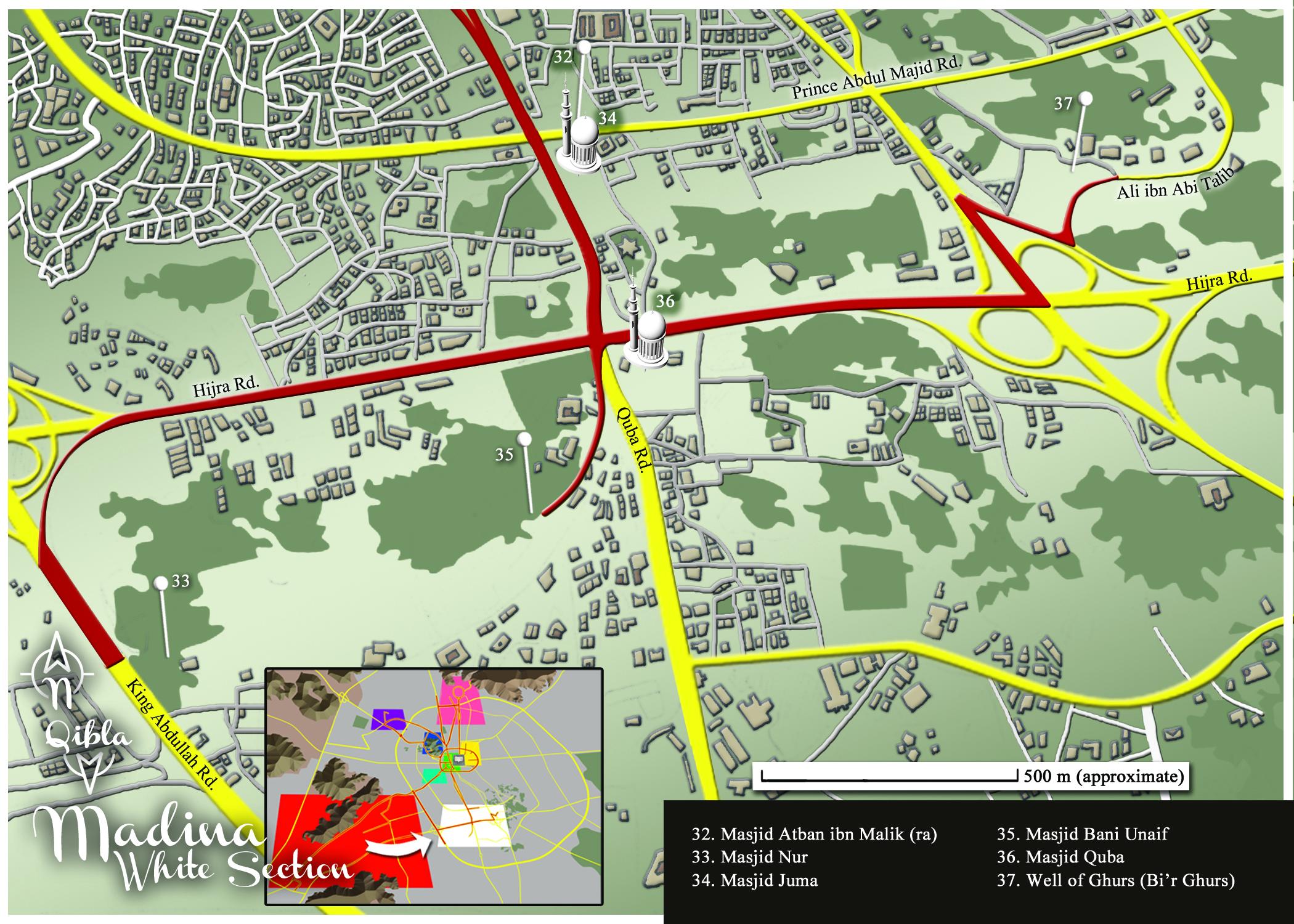 Medina Map: White Section Detail