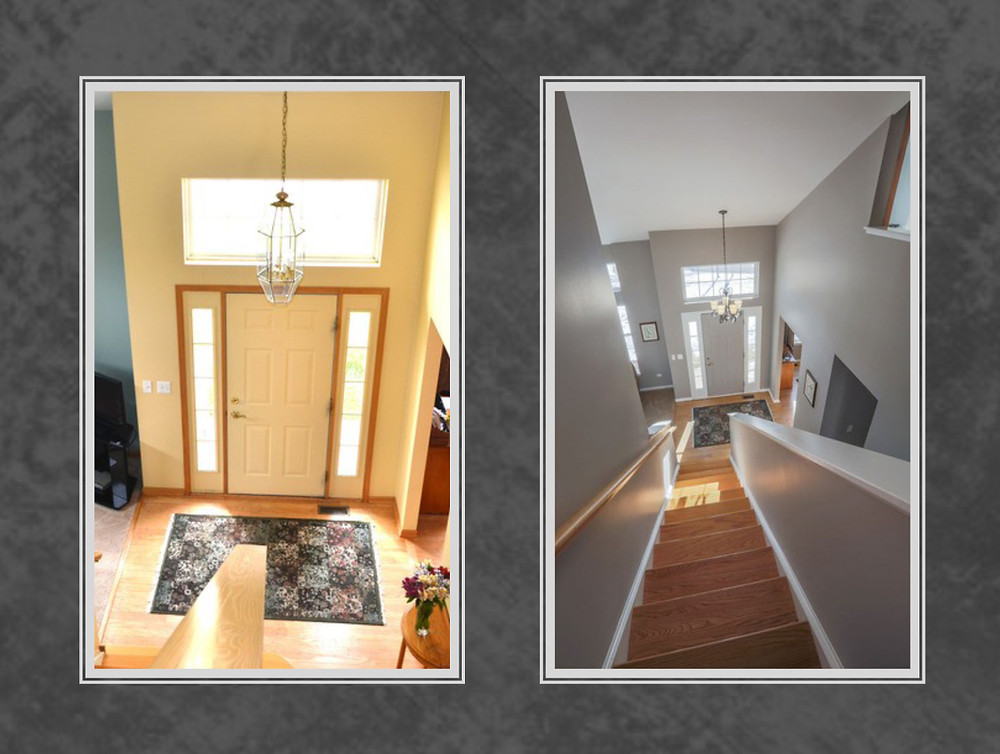 entry way before and after