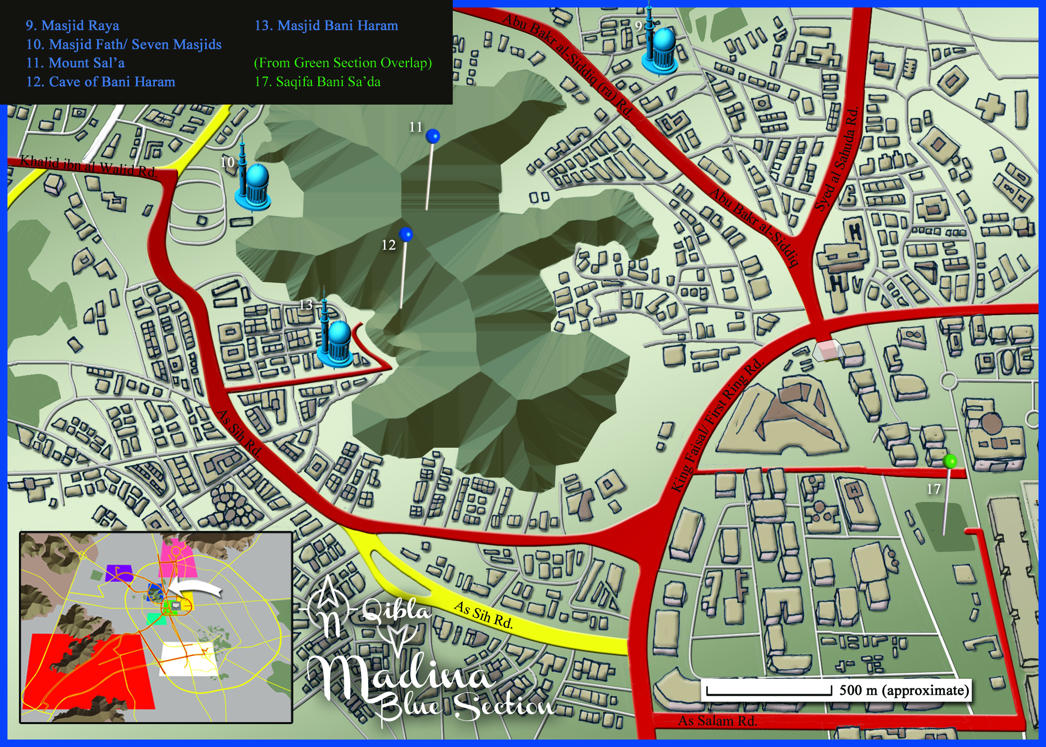 Medina Map: Blue Section Detail