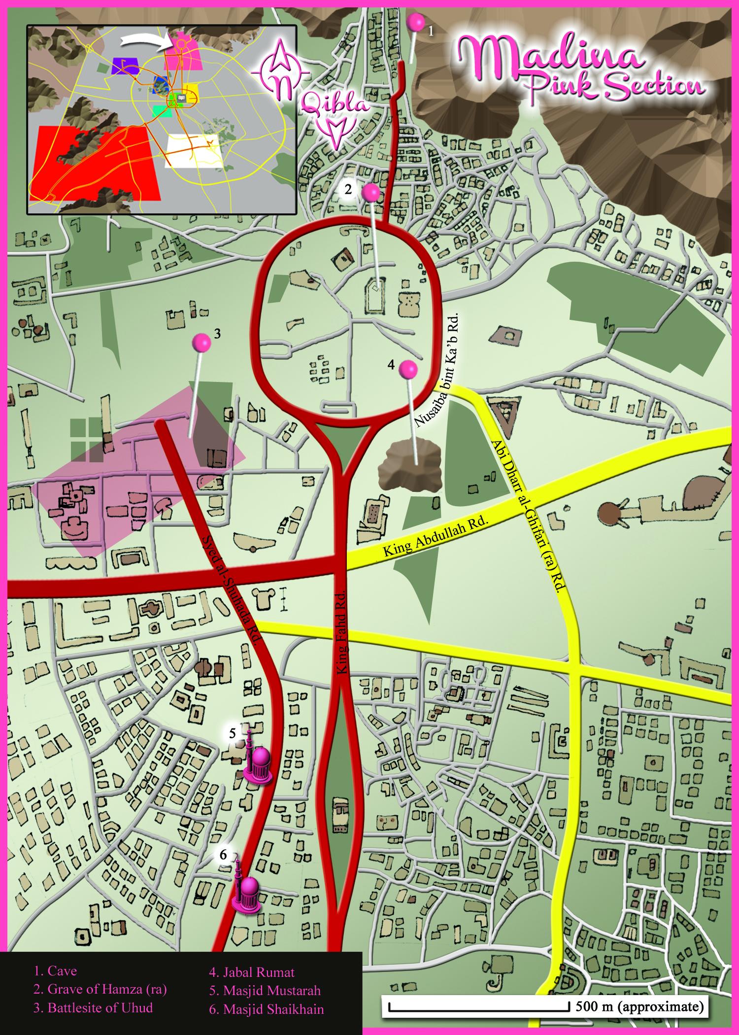 Medina Map: Pink Section Detail
