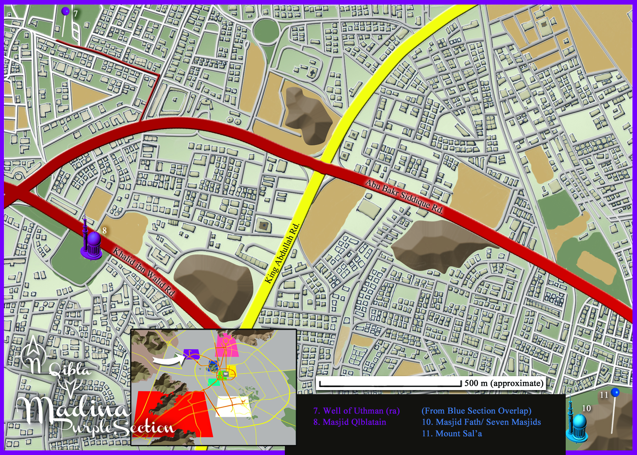 Medina Map: Purple Section Detail