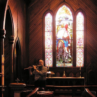 Patrick, Testing the Acoustics of Grace Episcopal Church, Massies Mill, VA