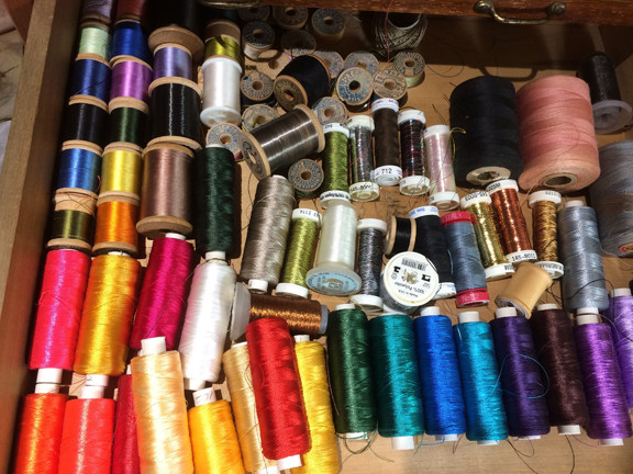 rayon and silk threads