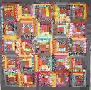 1995 traditional quilt with Indian batiks