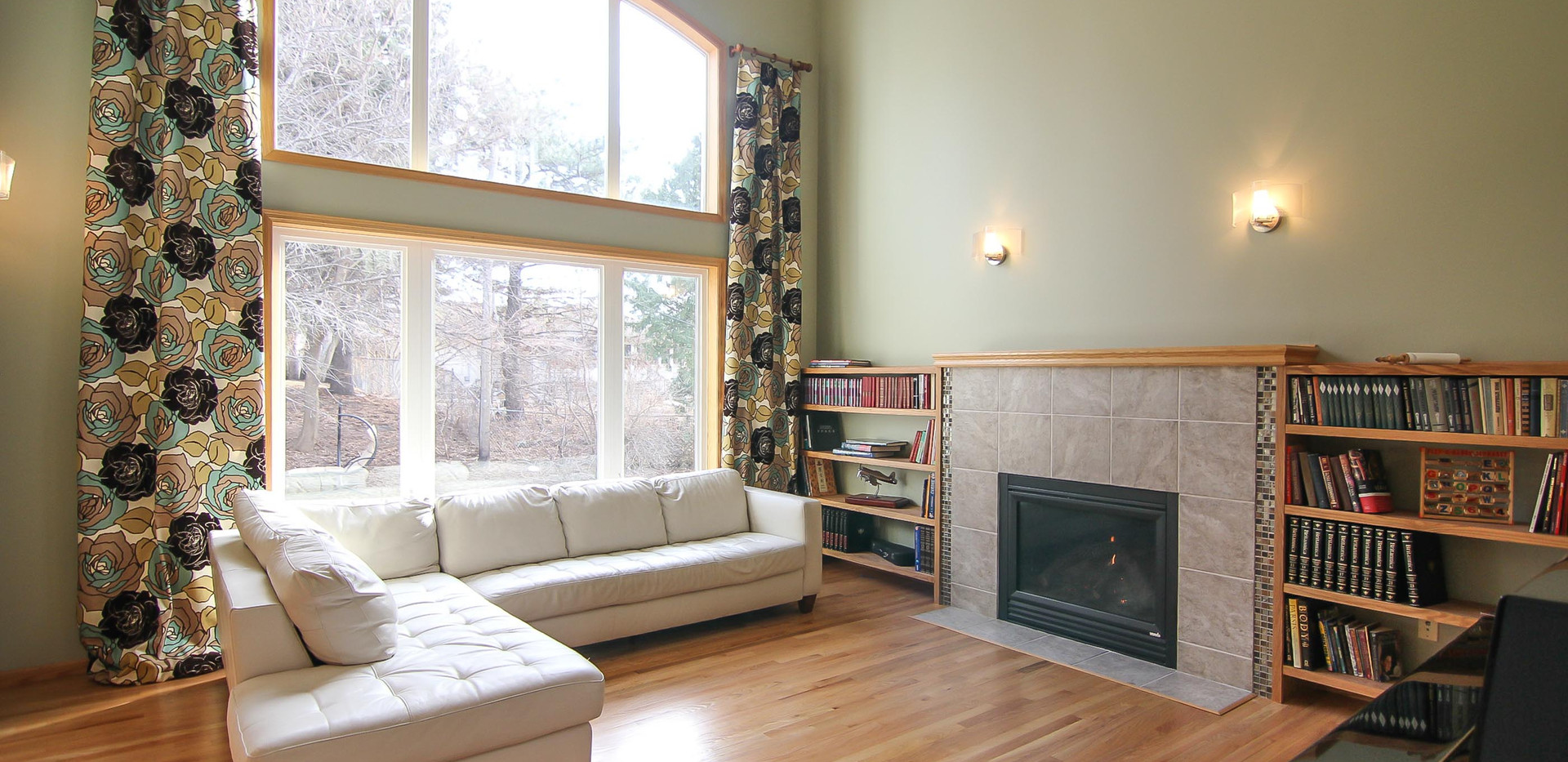 Living Room and Fireplace After