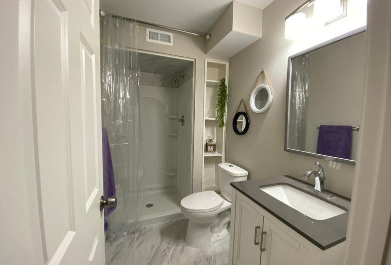 NEW BATHROOM ON THE LOWER LEVEL