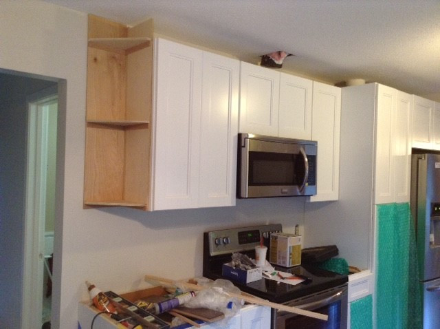 Some Cabinets Built On The Spot