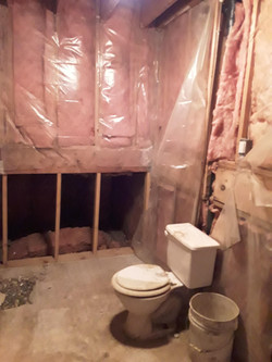 timber lower level bath before