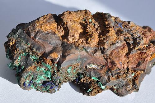 Азурит, малахит, лимонит, Казахстан 934-ПШ