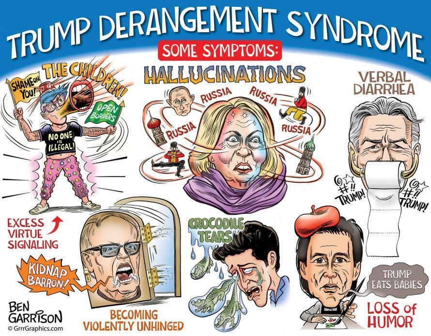 The many symptoms of Trump Derangement Syndrome