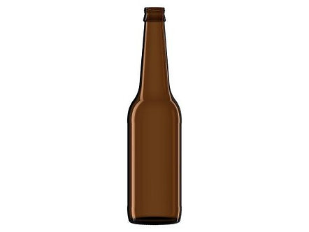 """Коричневая стеклянная пивная бутылка """"LONG NECK"""" 0,5 л (без кронен пробки), 1 шт"""