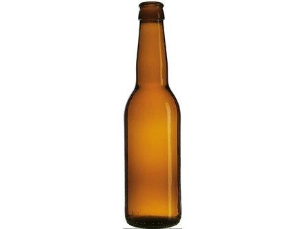 Бутылка пивная под кронен пробку, 0.33 л, коричневая