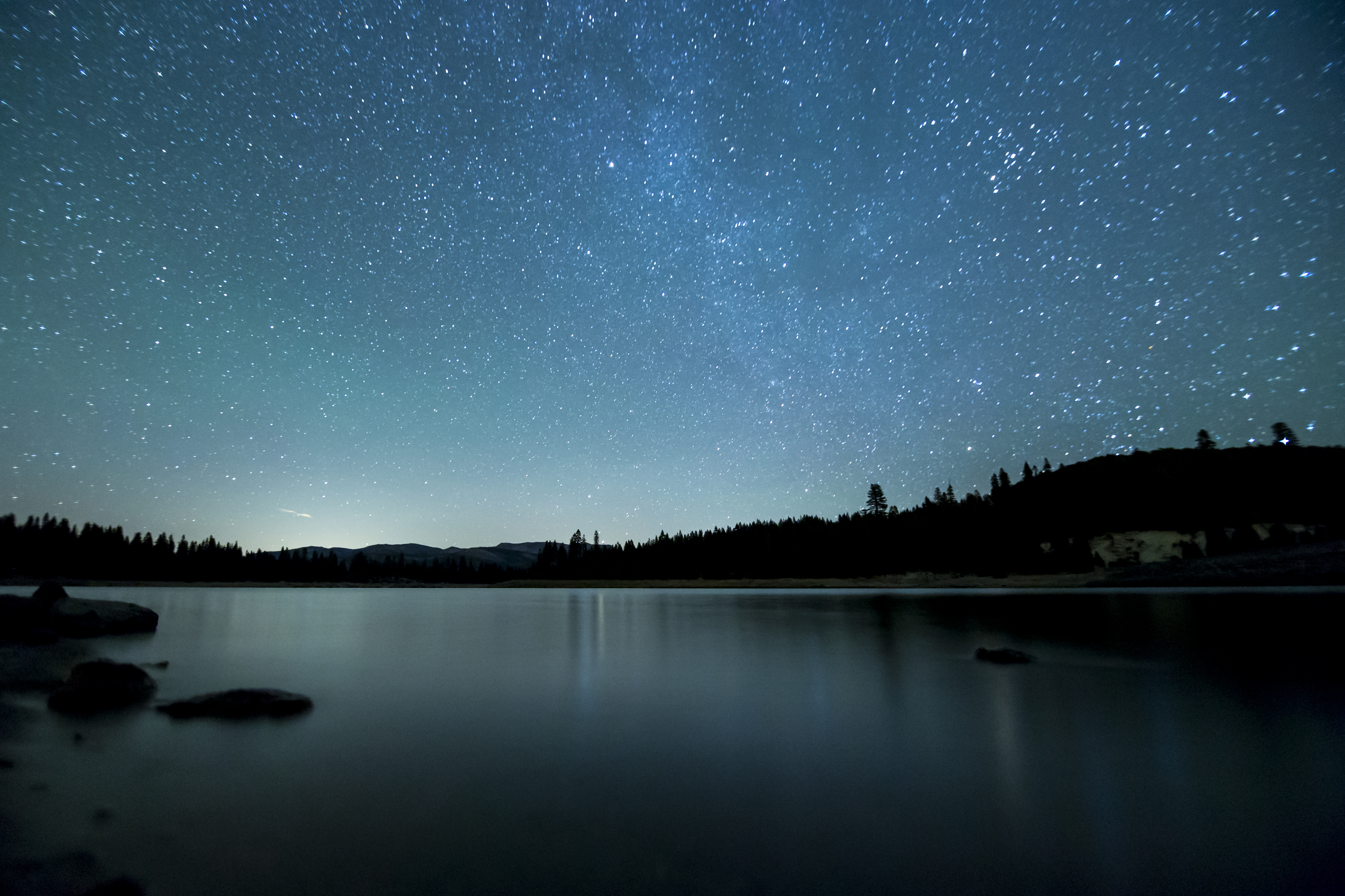 Star Dust Over the Lake