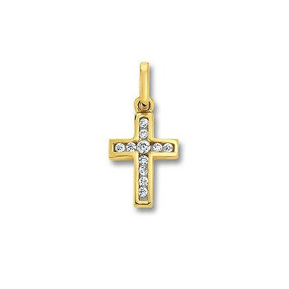 Anhänger Kreuz Zirkonia AHZ00090.1