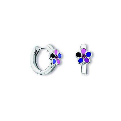 Creole Blume Kristall Silber 925/-