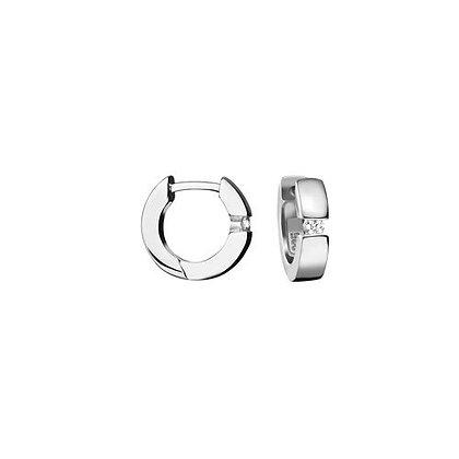Creole Zirkonia 13,5 x 3,4 mm Silber 925/-