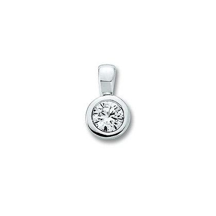 Anhänger Zarge 4,0 mm Zirkonia 4 mm Silber 925/-