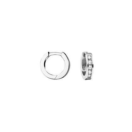 Creole Zirkonia 12,1 x 2,6 mm Silber 925/-