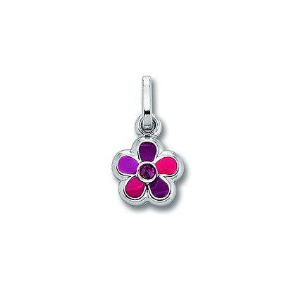 Anhänger Blume Zirkonia Silber 925/-