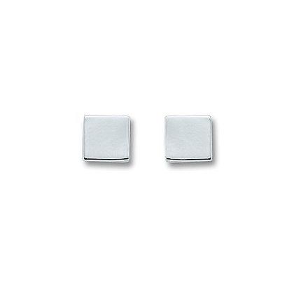 Ohrstecker viereck 5,0 mm Silber 925/-